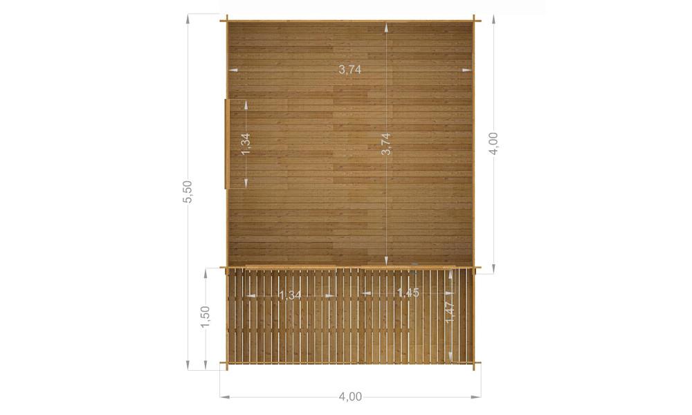 Alva Log Cabin Plan