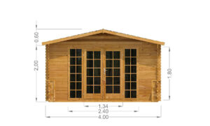 Emma Log Cabin Front Elevation