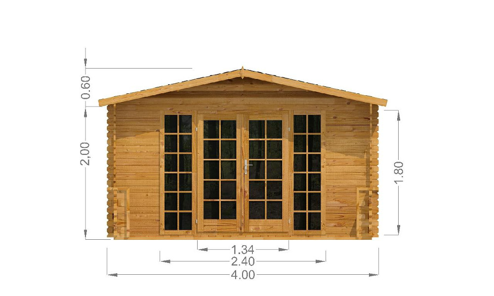 Emma Log Cabin Front Elevation