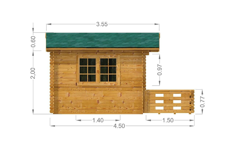 Emma Log Cabin Left Elevation