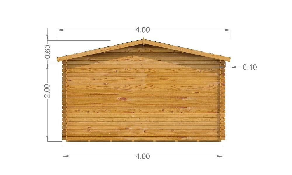 Emma Log Cabin Rear Elevation