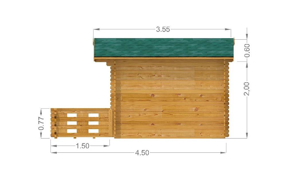 Emma Log Cabin Right Elevation
