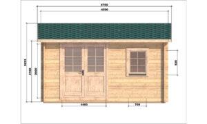 Erna Log Cabin Front Elevation