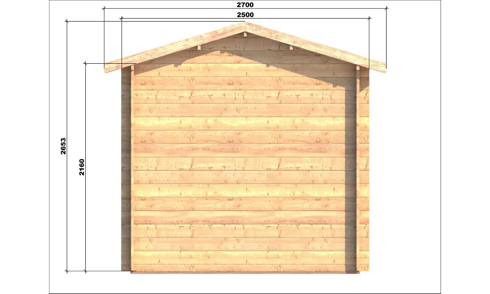 Erna Log Cabin Side Elevation