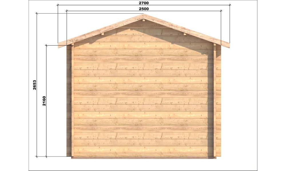 Erna Log Cabin Rear Elevation