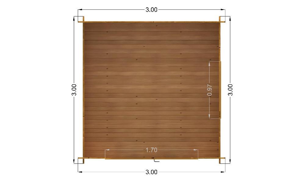 Imperial Log Cabin Floor Plan