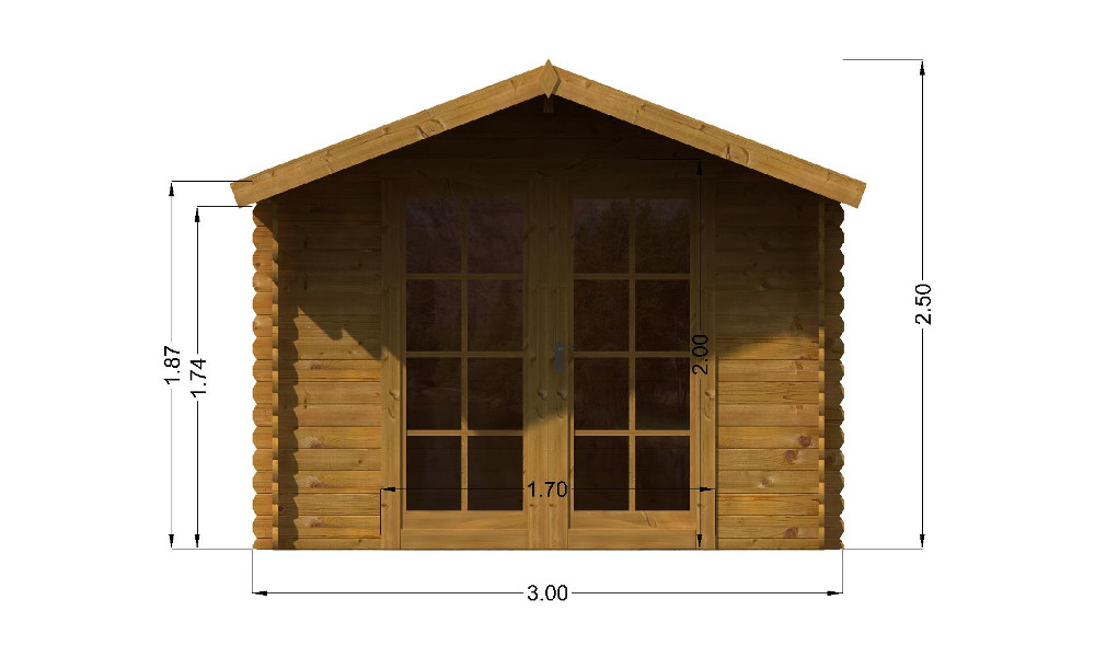 Imperial Cabin Front Elevation