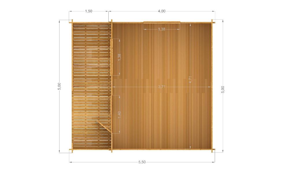 Lyle Log Cabin Floor Plan
