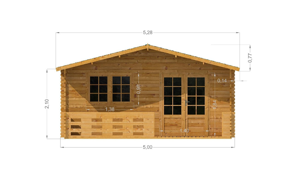 Lyle Log Cabin Front Elevation