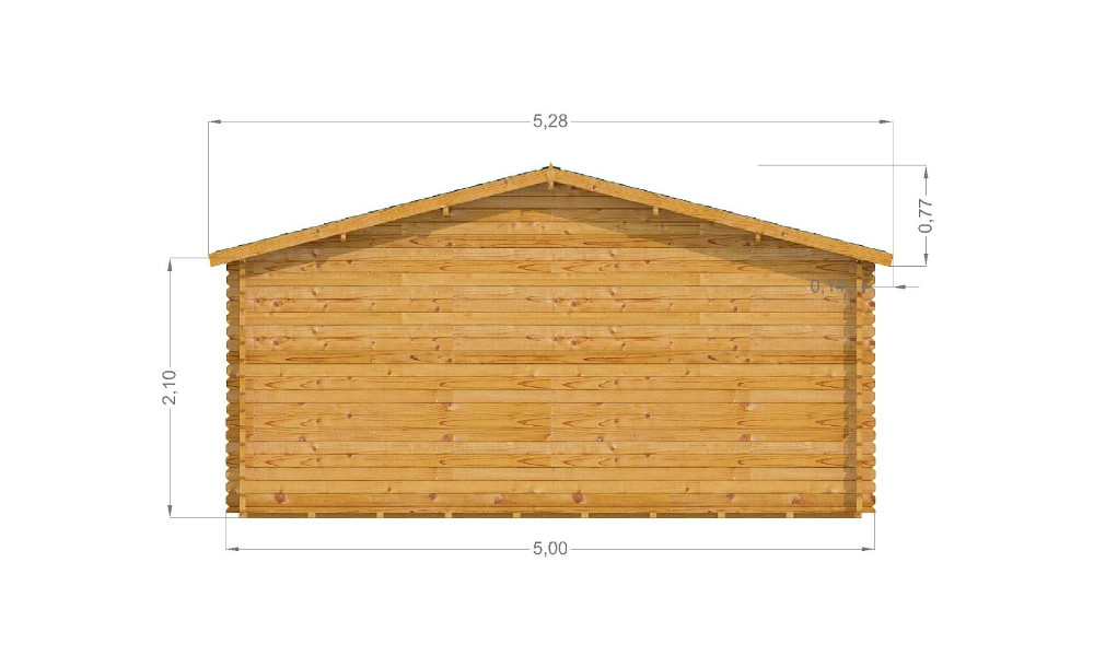 Lyle Log Cabin Rear Elevation