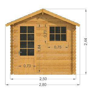 Mantova Log Cabin Front Elevation