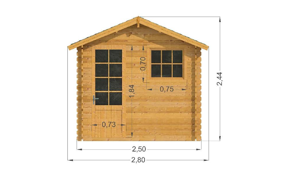 Mantova Log Cabin Front Elevation