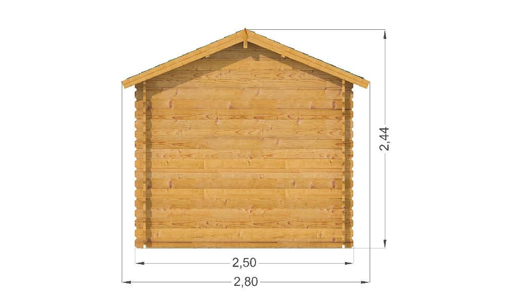 Mantova Log Cabin Rear Elevation
