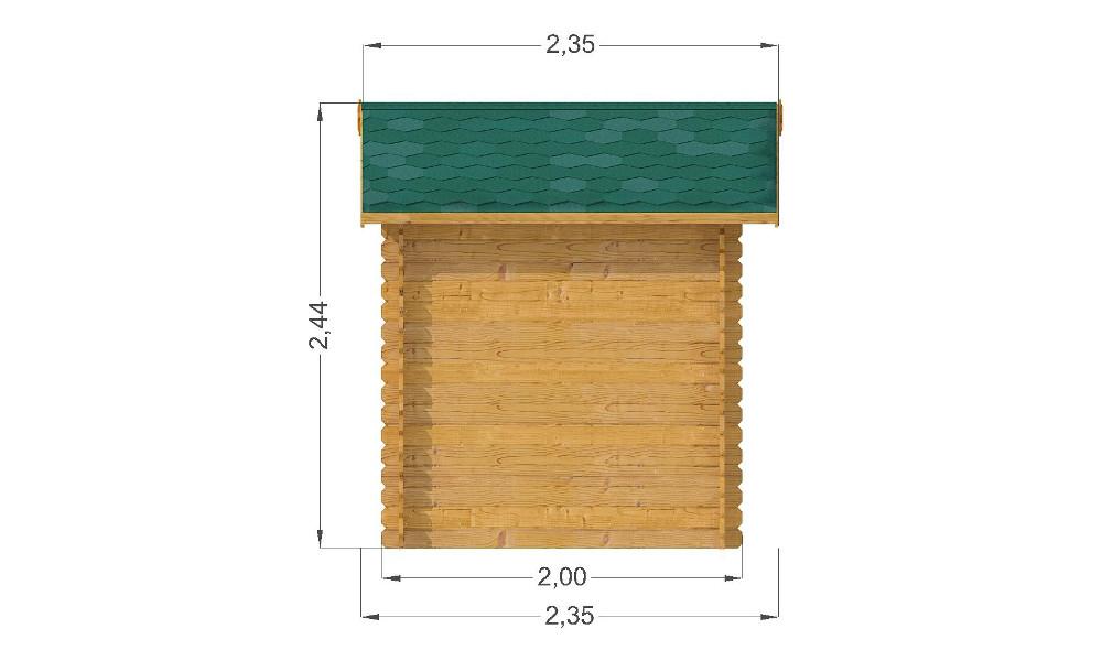 Mantova Log Cabin Left Elevation