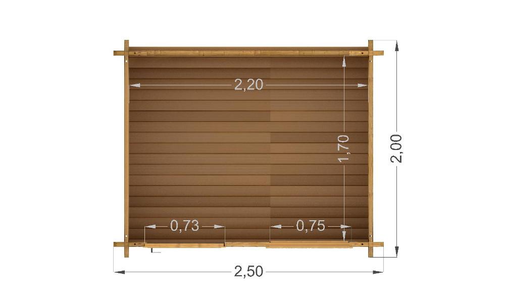 Mantova Log Cabin Floor Plan