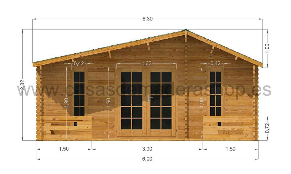 Padova Cabin 6m X Prices From 5 995 Log Cabins
