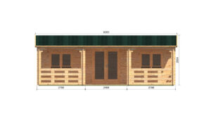 Alma Log Cabin Front Elevation