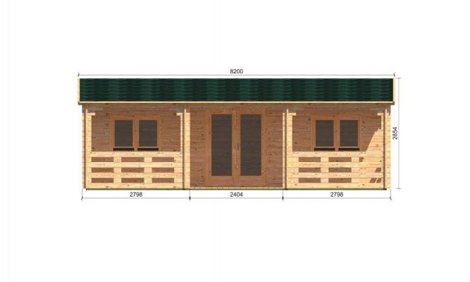 Alma Log Cabin Front Elevation