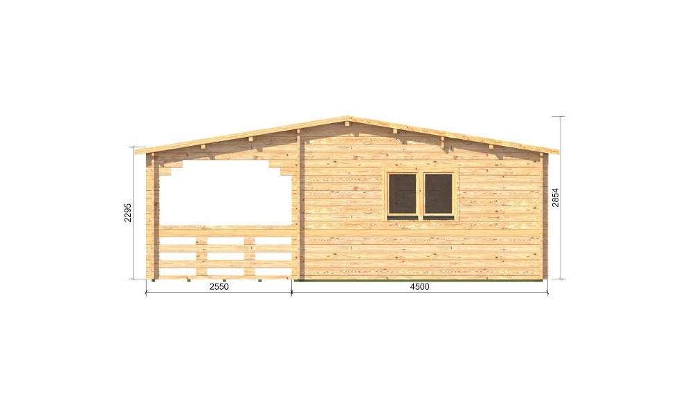 Alma Cabin 7m X 8m Prices From 7 995 Log Cabins