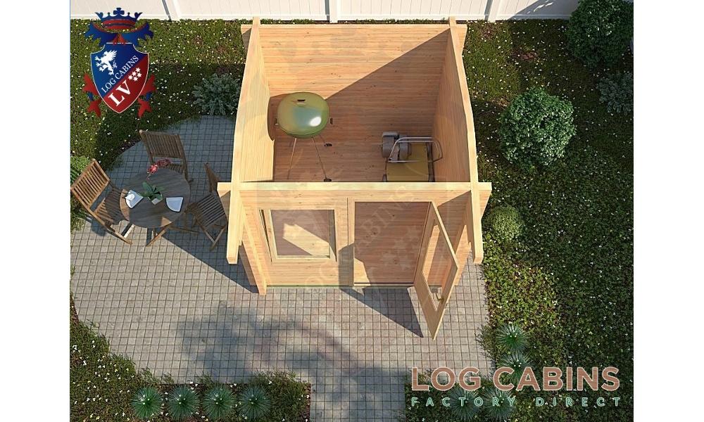 Aylsham Log Cabin Front Plan