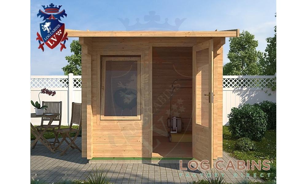 Aylsham Log Cabin Front Elevation