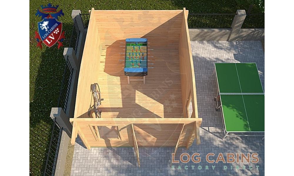Bedford Log Cabin Plan View