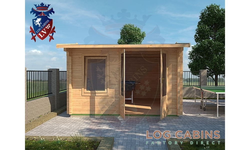 Bedford Log Cabin Front Elevation