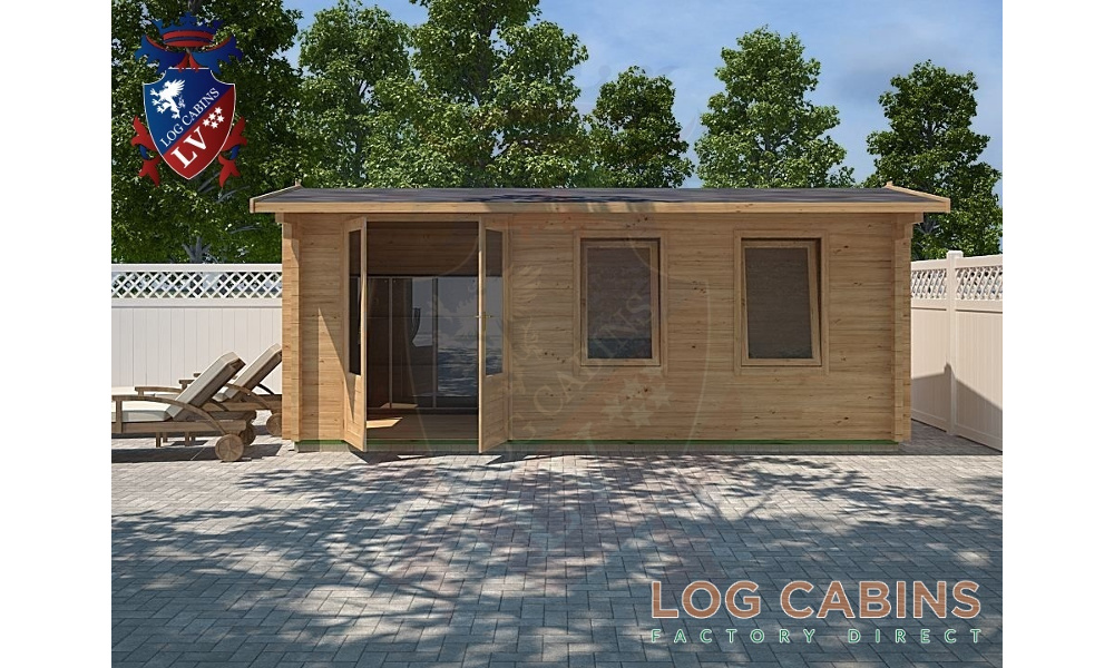 Bristol Log Cabin Front Elevation