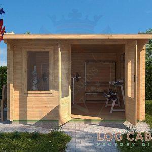 Cambridge Log Cabin Front Elevation