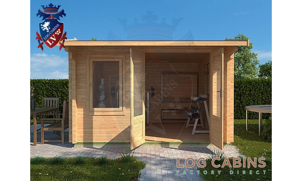 Cambridge Log Cabin Front Elevation