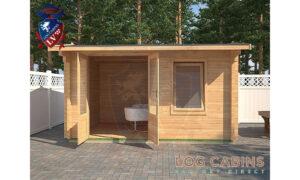 Cheltenham Log Cabin Front Elevation