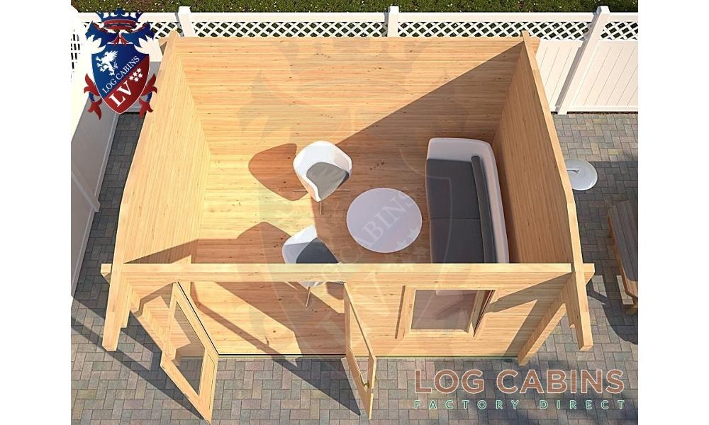 Cheltenham Log Cabin Plan View