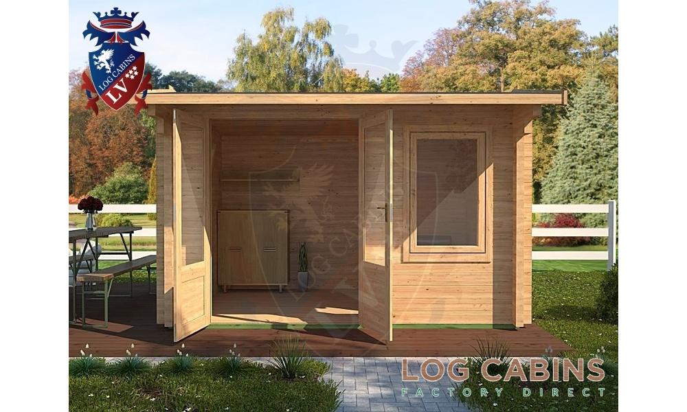 Colchester Log Cabin Front Elevation