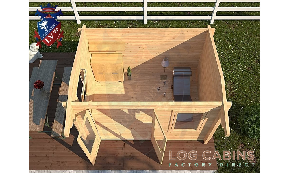 Colchester Log Cabin Plan View