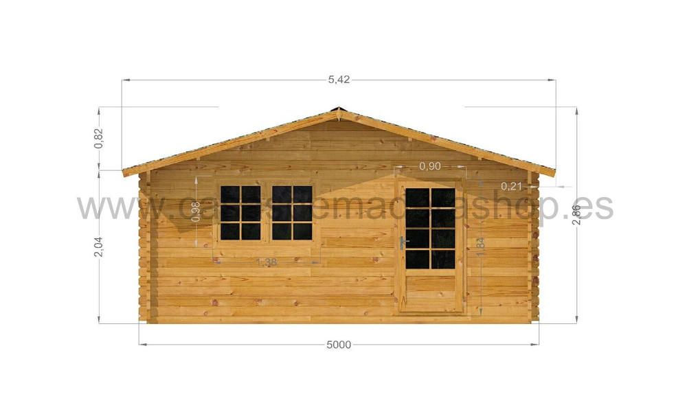 Eko Log Cabin Front Elevation