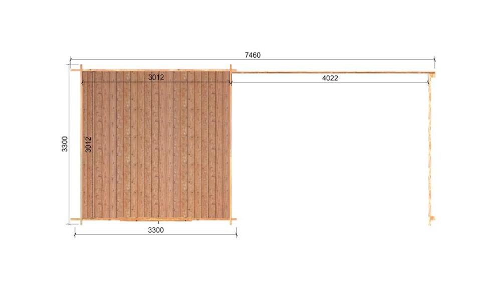 Eric Log Cabin Floor Plan