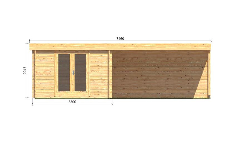 Eric Log Cabin Front Elevation