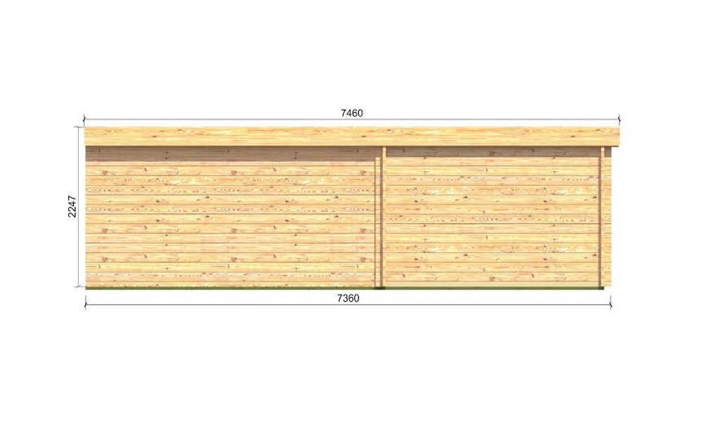 Eric Log Cabin Rear Elevation