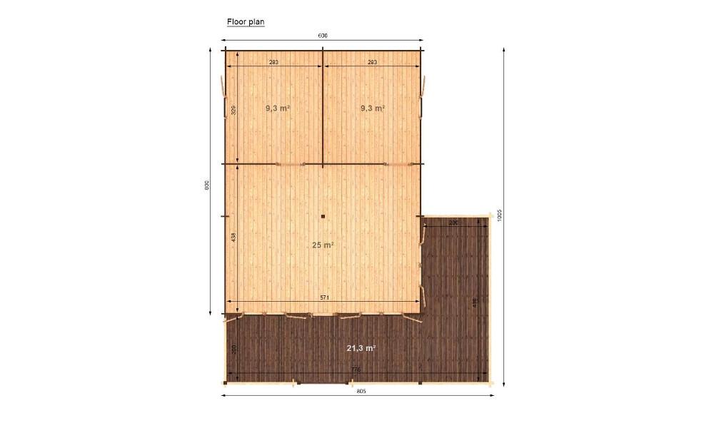 Gustav B Log Cabin Floor Plan