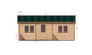 Hakan B Log Cabin Front Elevation