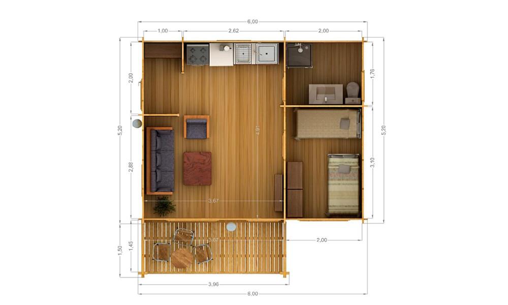 Hakan Cabin Floor Plan