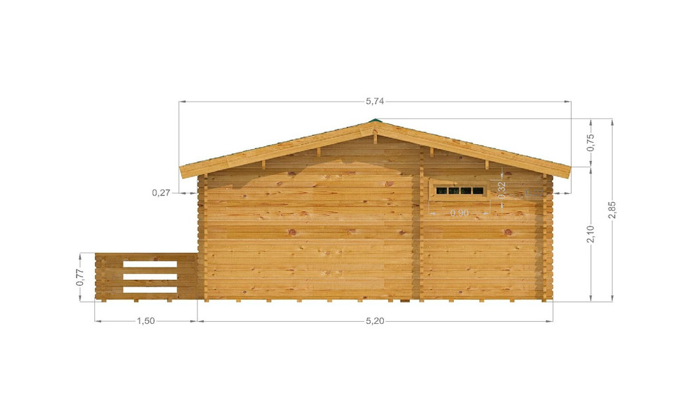 Haken Cabin Right Elevation