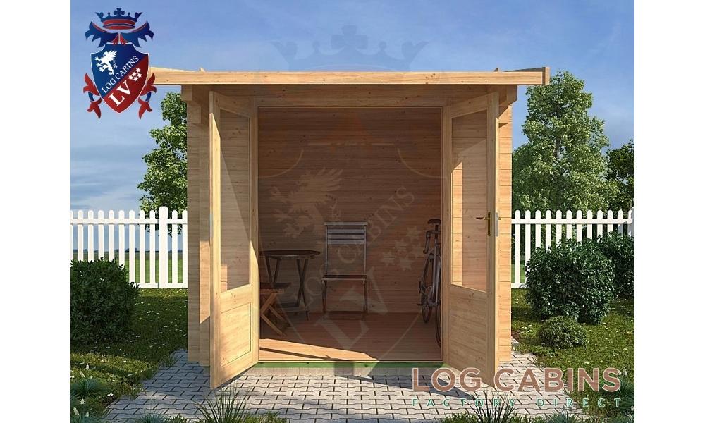 Helesworth Log Cabin Front Elevation
