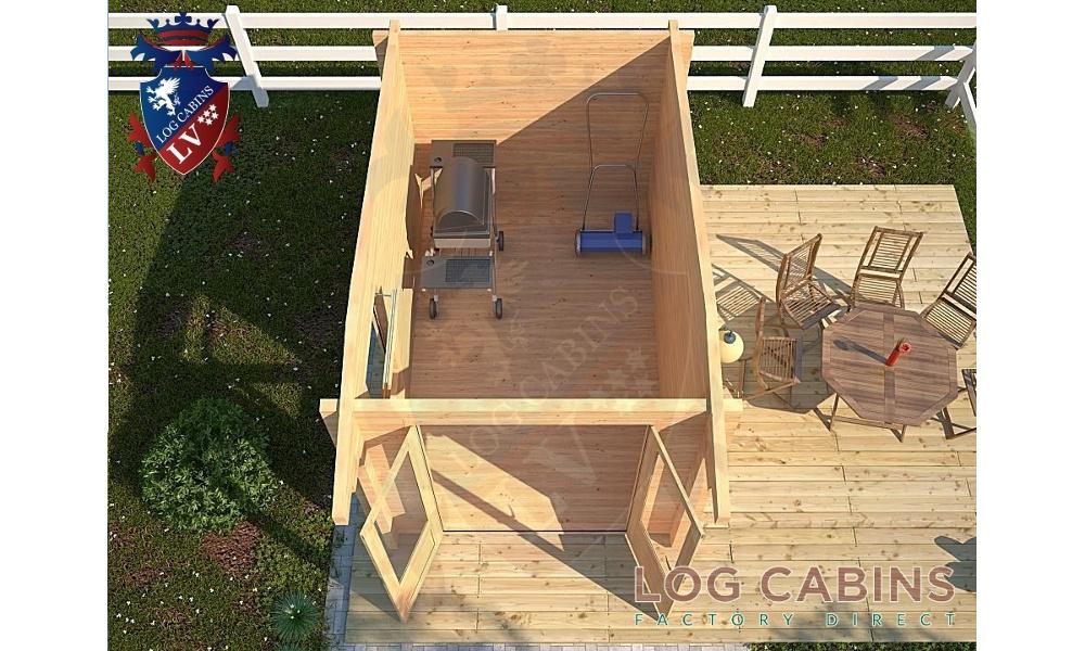King's Lynn Log Cabin Plan View