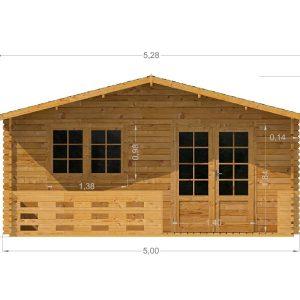 Laurel Log Cabin Front Elevation