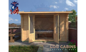Milton Keynes Log Cabin Front Elevation