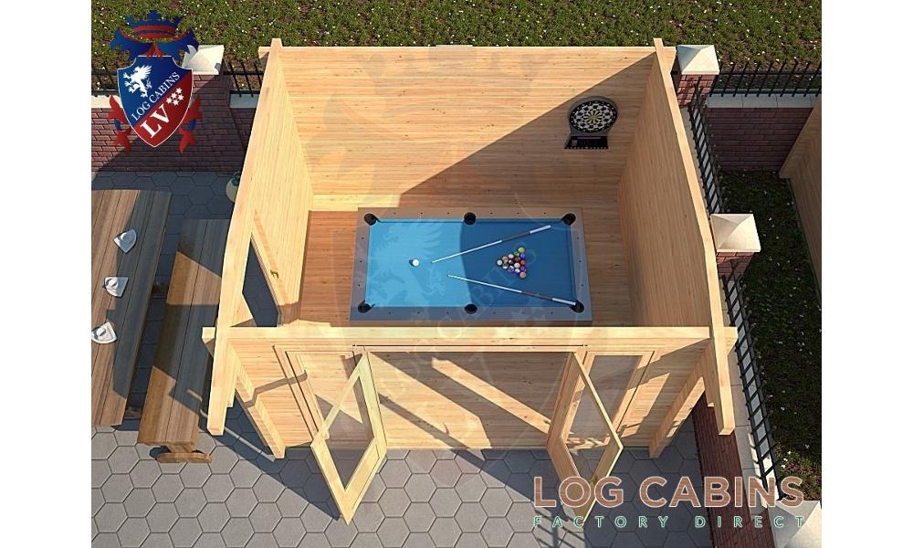Milton Keynes Log Cabin Plan View