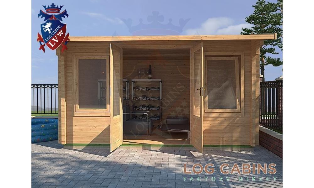 Northampton Log Cabin Front Elevation