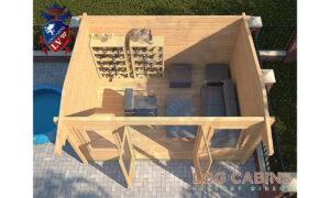 Northampton Log Cabin Plan View