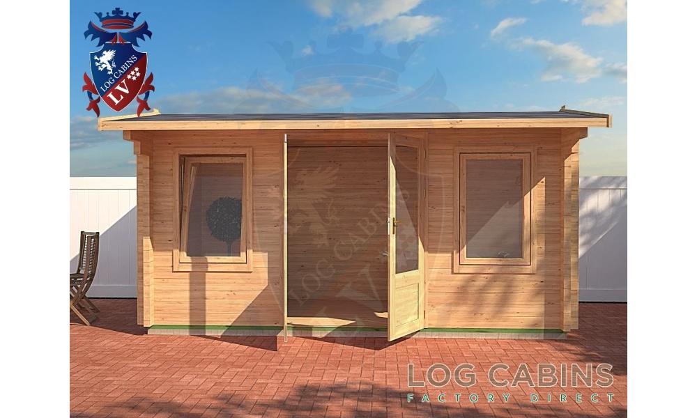 Norwich Log Cabin Front Elevation